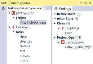 Task Runner Explorer Project Open binding