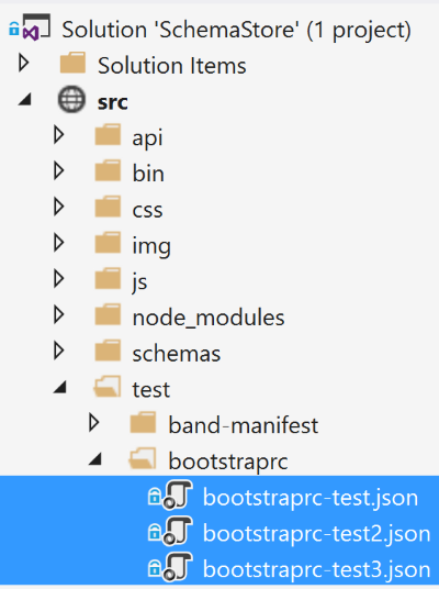 test files for .bootstraprc schema